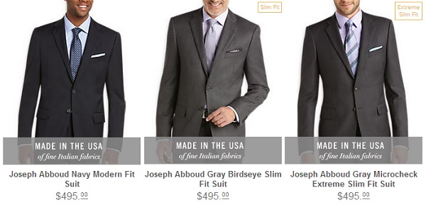 Men's Wearhouse new Abboud Suit fits - reviewed on Dappered.com