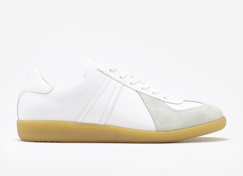 Gustin Army Trainer in White / Gum