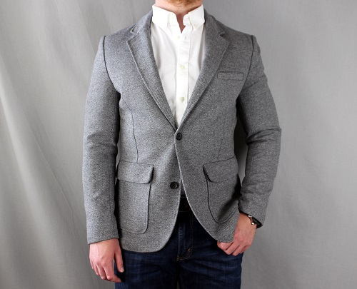 Standard Fit Deconstructed Knit Blazer