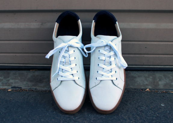 In Review: The Banana Republic Nicklas White Leather Sneaker | Dappered.com