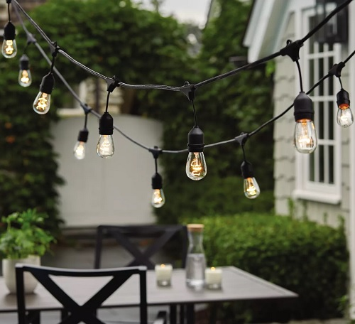 Threshold Drop Outdoor String Lights 10-count