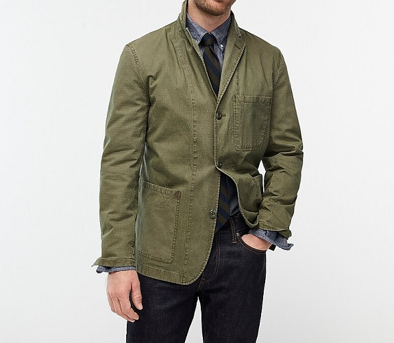 Wallace & Barnes Slim-fit Chore Blazer in Italian Ripstop Cotton