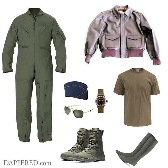 Style Scenario What I Wear to Work Mike Air Force Pilot