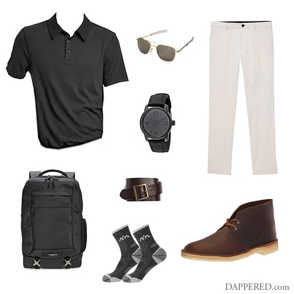 Chinos Chukkas Polo 7720 Black and Tan