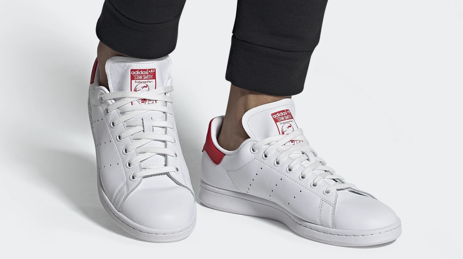 stan smith with joggers