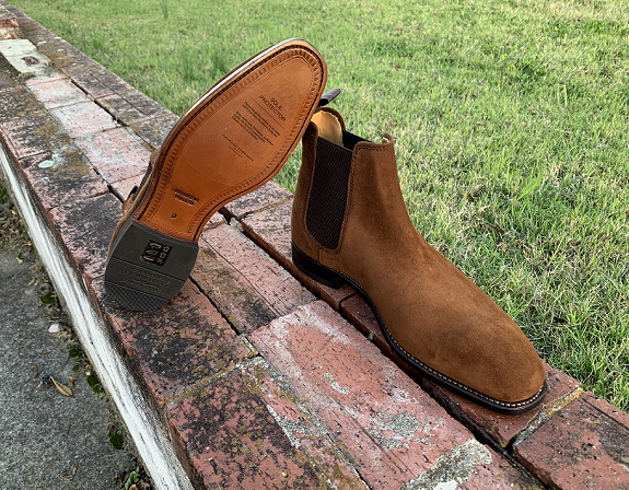 Charles Tyrwhitt Goodyear Welted Suede Chelsea Boot reviewed on Dappered.com