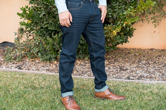Free Assembly Selvedge Slim Fit Jeans in Rinse 3D