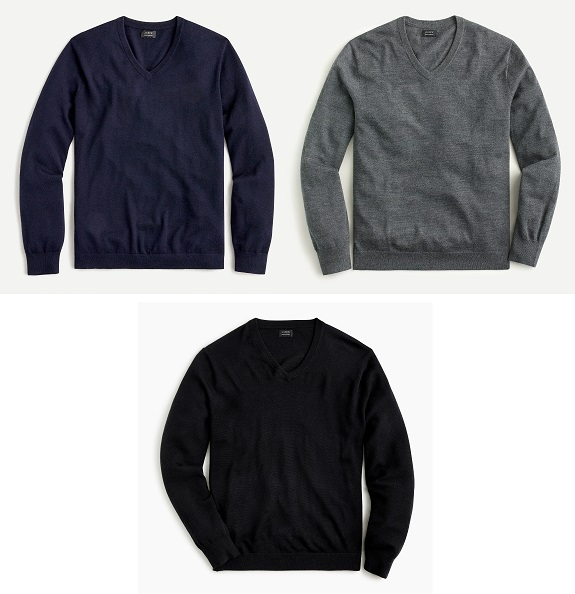 J. Crew Merino Wool V-Neck sweaters