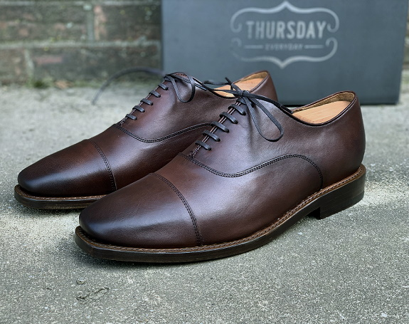 Thursday Boot Co. Executive Oxfords in Chestnut