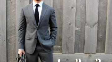 The Versatile Medium Gray Suit 3 Ways: #3 – All dressed up with a tie