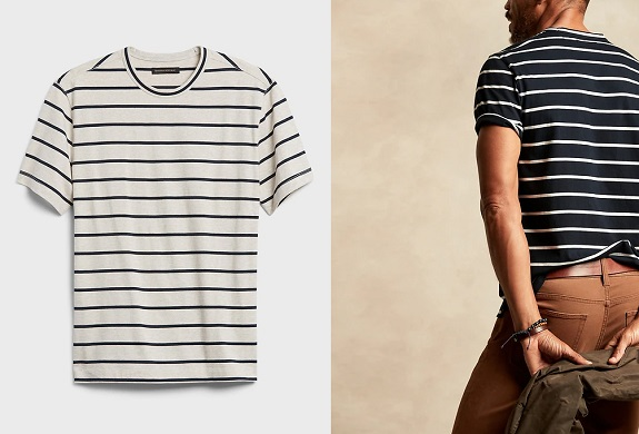 BR Authentic Supima T-Shirt in Stripe